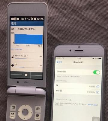 Gratina4GをBluetoothテザリング親機。iPhoneを子機